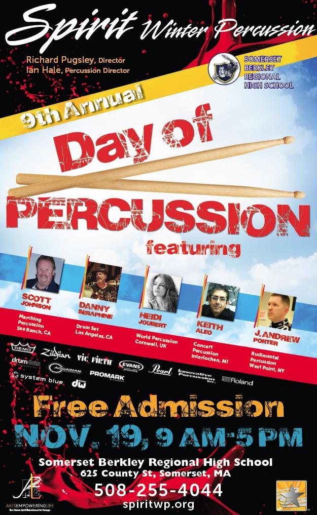 Day of Percussion at Somerset Berkley Regional High School