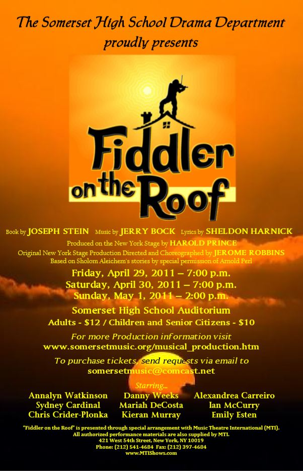 Fiddler on the Roof Production Poster