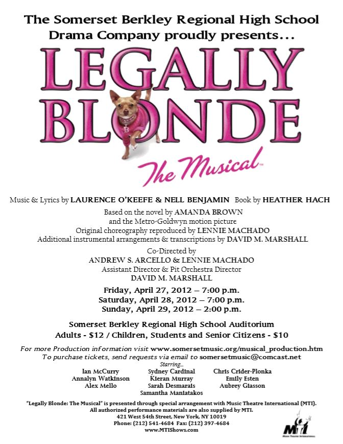 Legally Blonde Production Poster 2