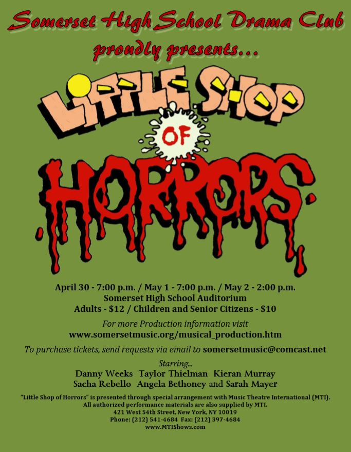 Little Shop of Horrors 8.5 x 11 Show Poster