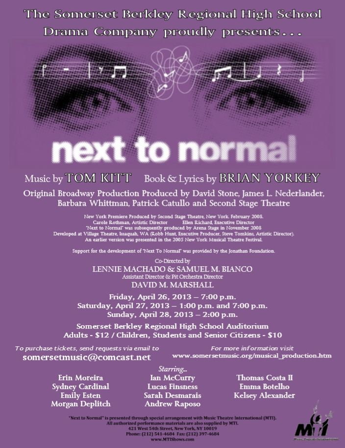 Next to Normal Production Poster 3