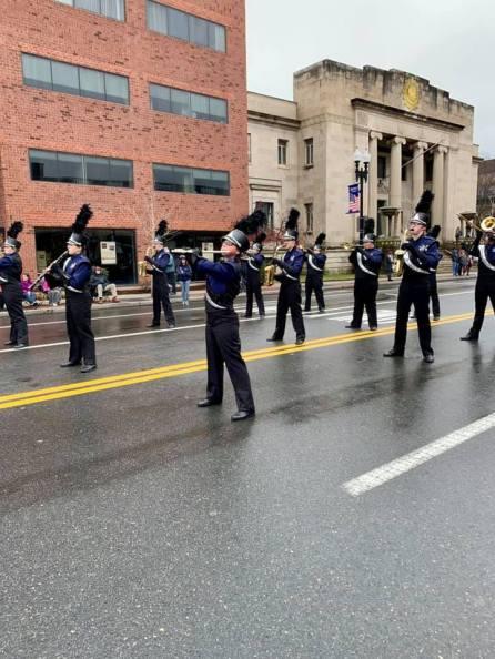 SBRHS Blue Raider Marching Band Quincy Christmas Parade - November 25, 2018 - 2