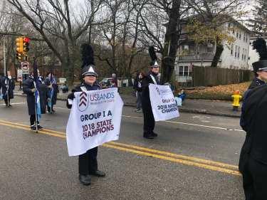 SBRHS Blue Raider Marching Band Quincy Christmas Parade - November 25, 2018 - 4