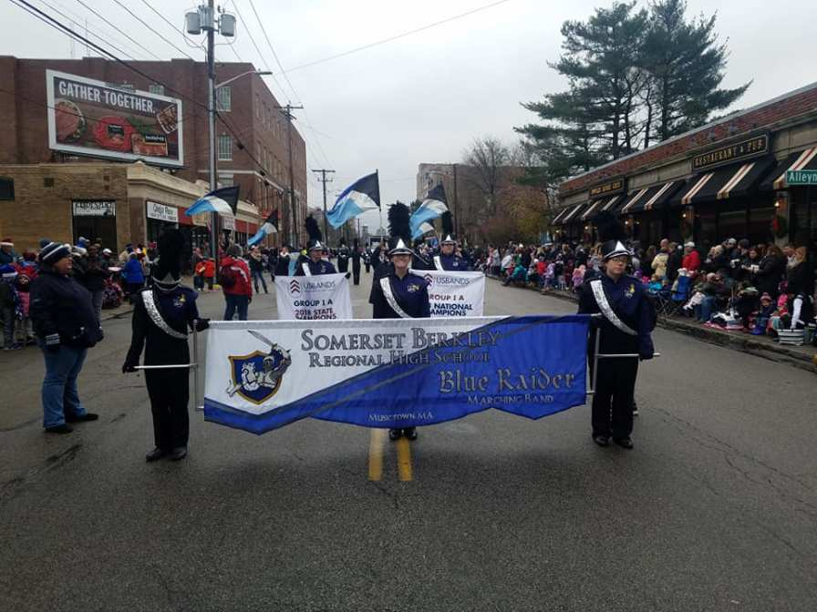 SBRHS Blue Raider Marching Band Quincy Christmas Parade - November 25, 2018 - 6
